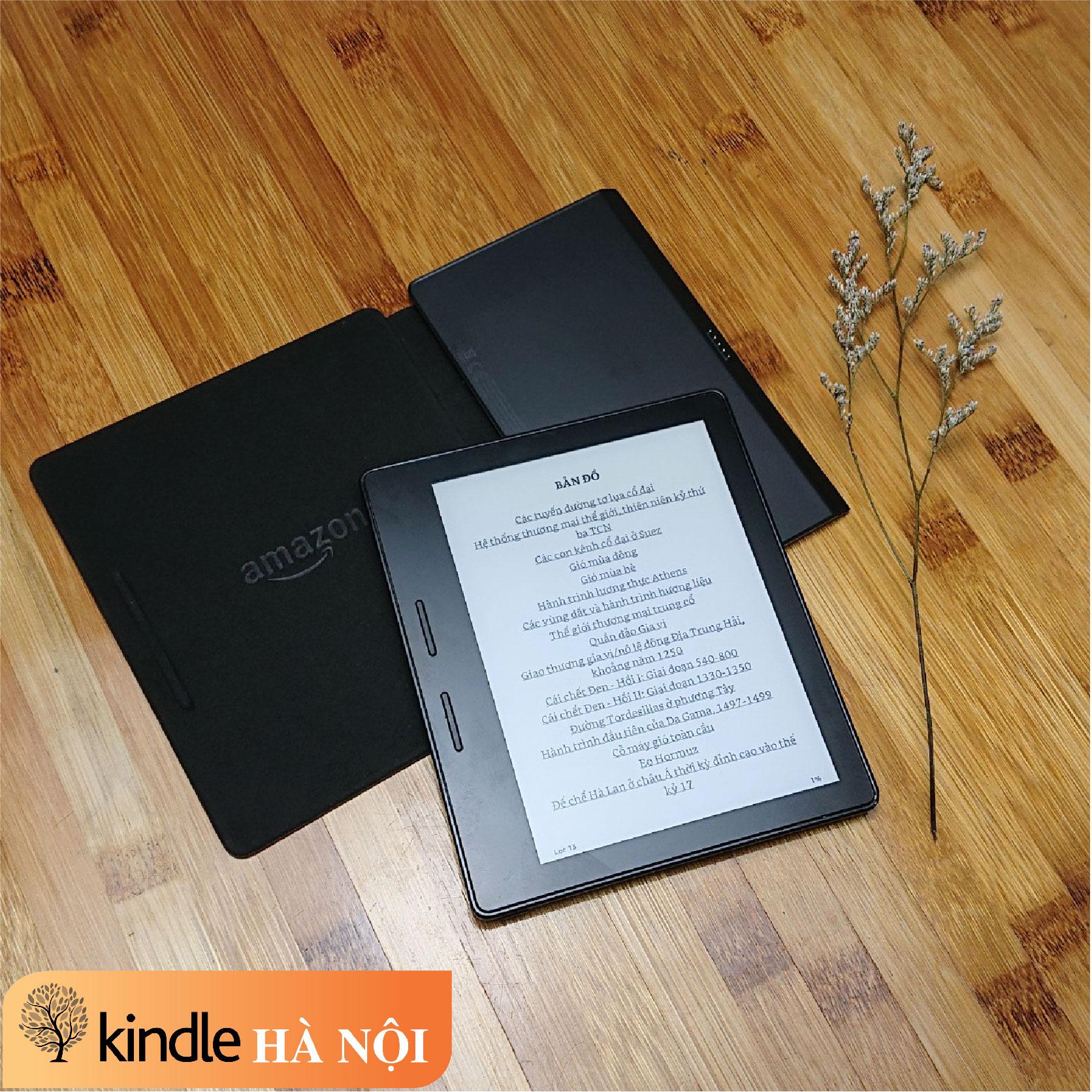 Máy đọc sách Kindle Oasis 1 (8th) O1 kèm Charging cover, có phím chuyển trang, nghe Audible, màn 6inch 300PPI – Used very good