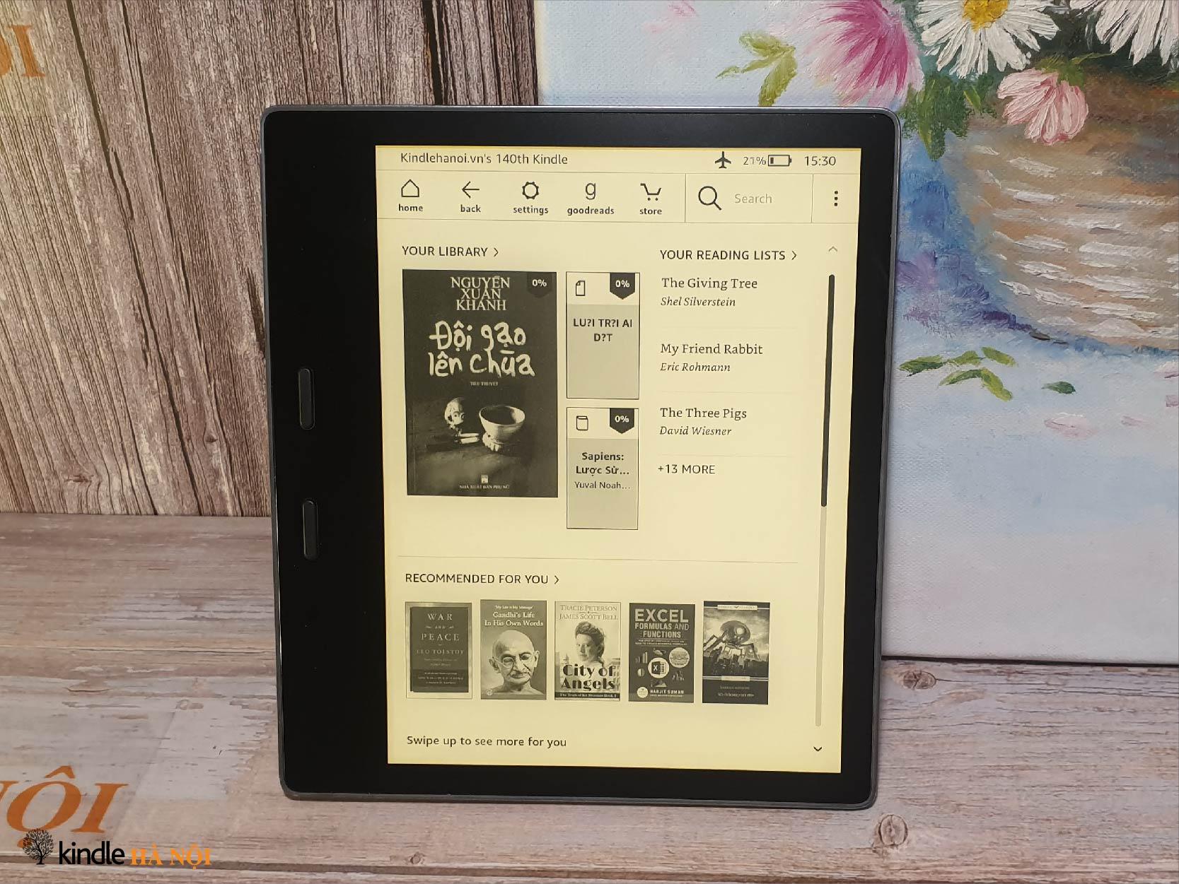 Máy đọc Sách Kindle Oasis 3 10th O3 đèn vàng – 32gb – màu Gold – Used very good