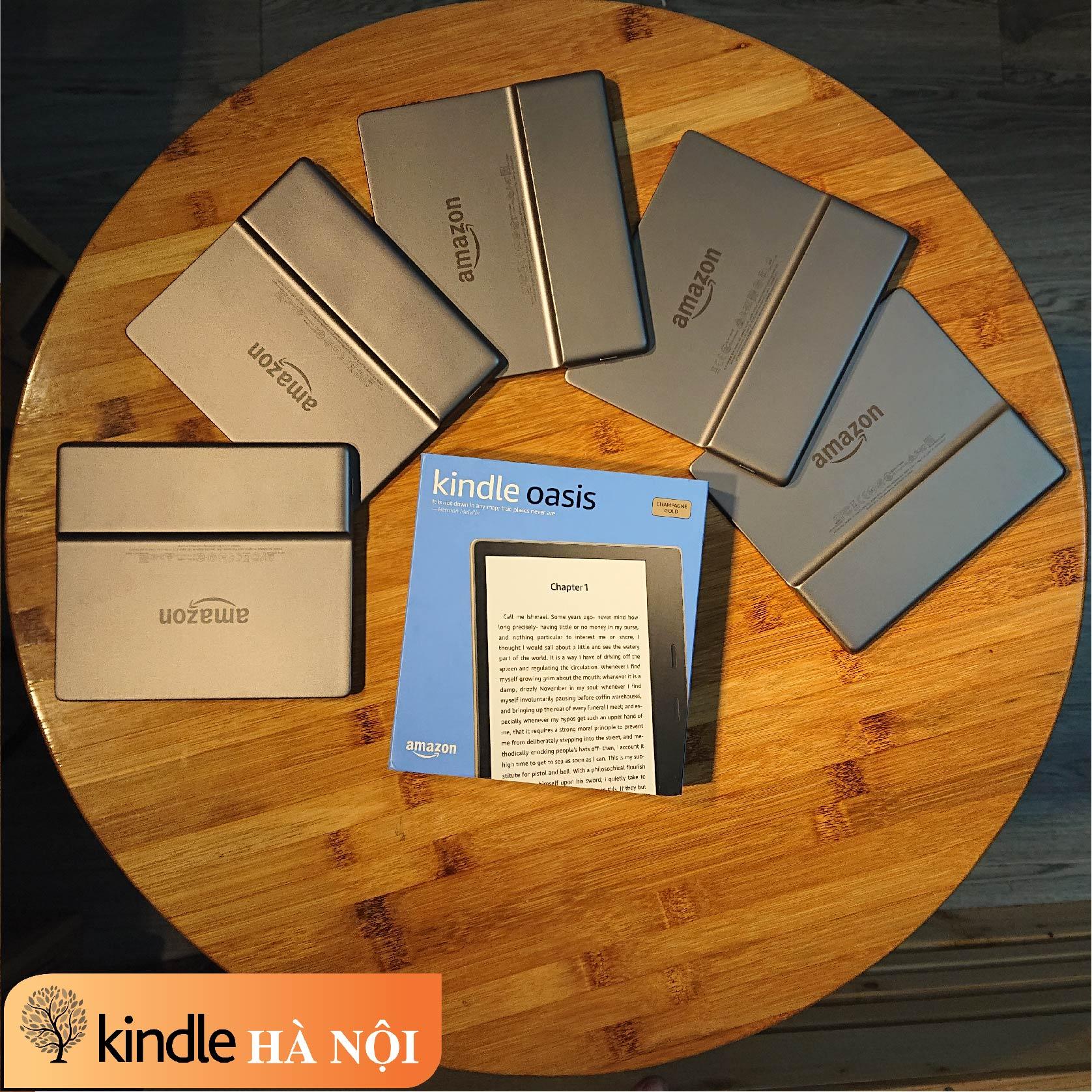 [Used Very Good] Máy đọc sách Kindle Oasis 2 (9th) 32GB, màn hình 7inch, chống nước, bluetooth
