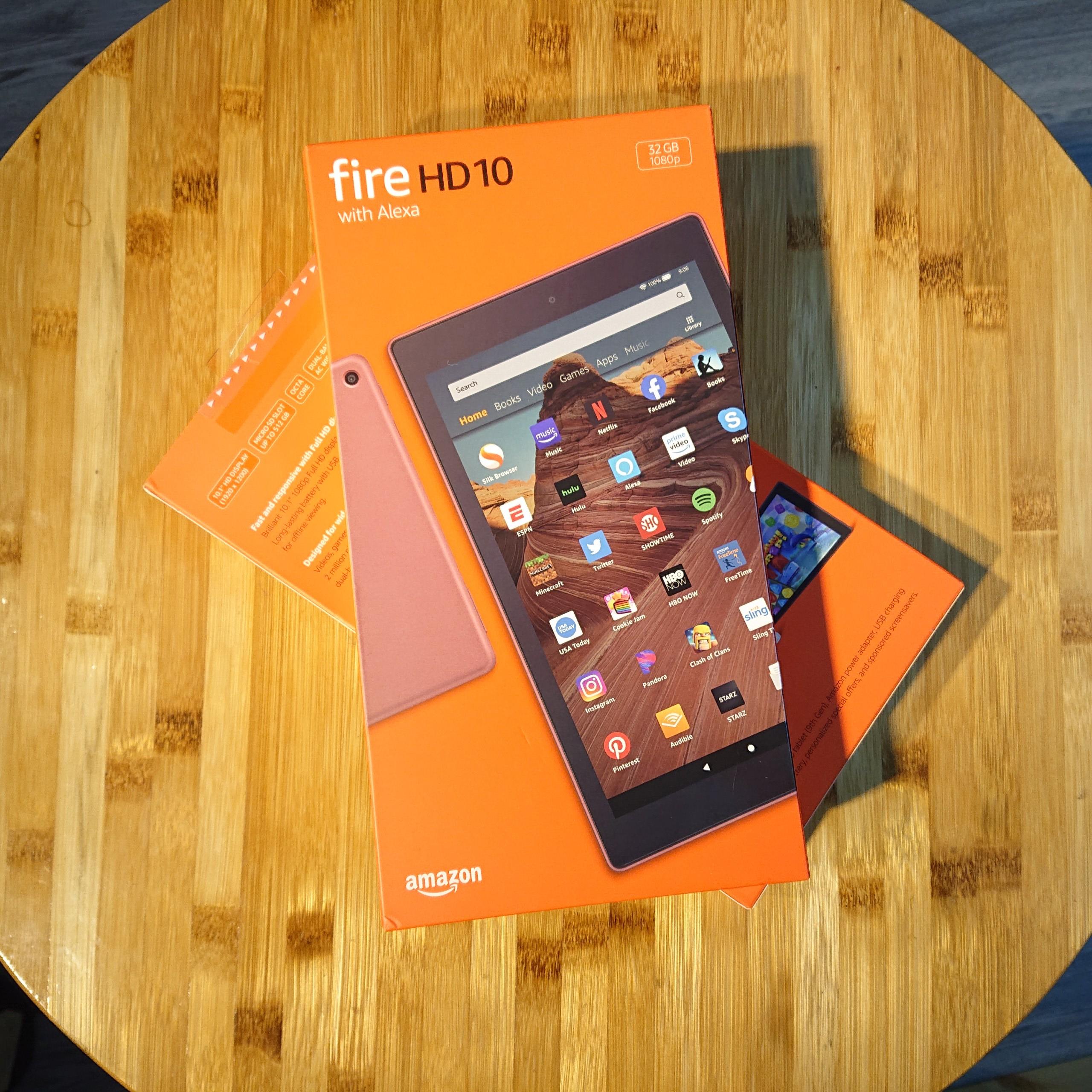 Máy tính bảng Kindle Fire HD 10 2019 màn hình 10inch FullHD 1900×1200, RAM 2GB, bộ nhớ trong 32GB cài được CH play.