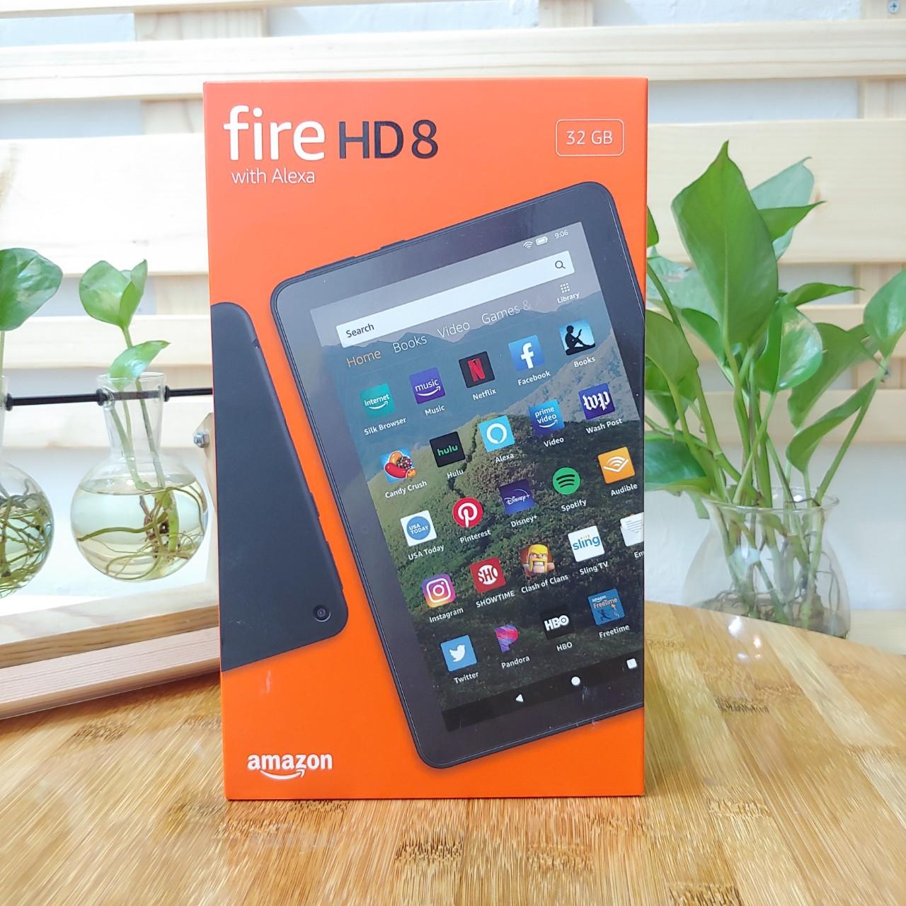 [New 100%] Máy tính bảng Kindle Fire HD 8 (10th) 2020 màn hình 8inch sắc nét, RAM 2GB, dung lượng 32GB