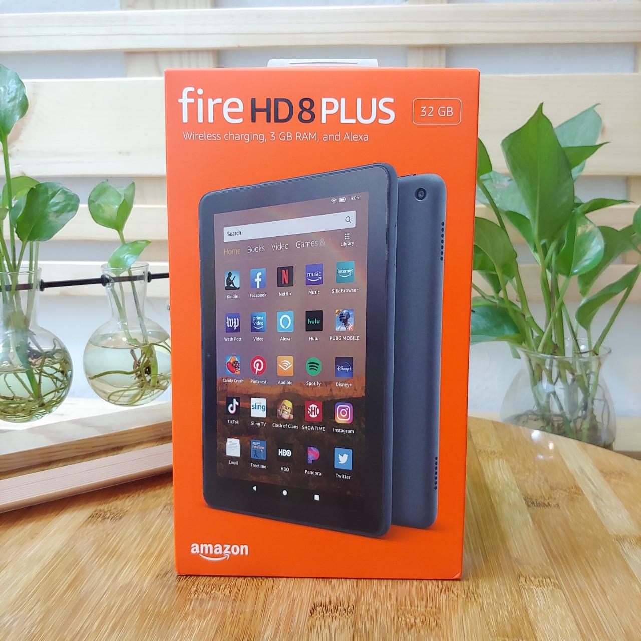[New 100%] Máy tính bảng Kindle Fire HD 8 Plus (10th) 2020 màn hình 8inch sắc nét, RAM 3GB, dung lượng 32GB