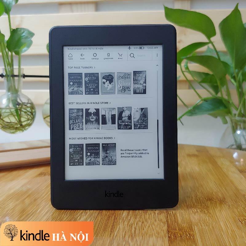 [Used Very Good] Máy đọc sách Kindle Paperwhite gen 3 (7th) (PPW3) có đèn nền, độ phân giải 300PPI, bộ nhớ 4GB