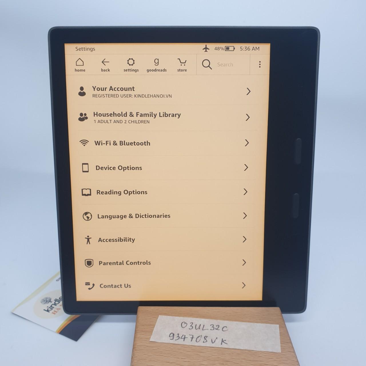 Máy đọc sách Kindle Oasis 3 (10th) O3 bản 32GB mã 08VK – Used Very Good